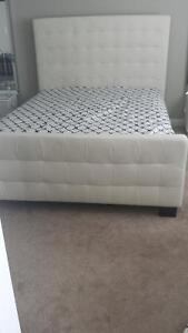 Beautiful off white queen bed frame