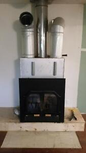 zero clearance wood burning fireplace with blower