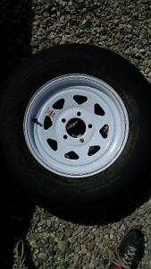 ST 205/75 R14 WHITE STEEL RIMS AND TIRES London Ontario image 1