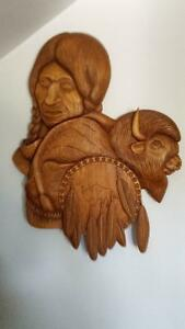 Wood carving Native American