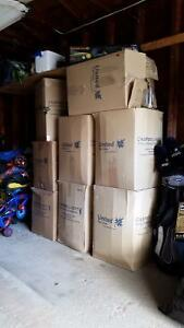5 cu.ft. packing boxes x 6