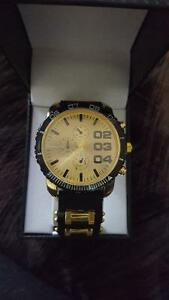 Black and Gold Raynell Watch