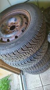 Winter tires with rims  215 65 R16