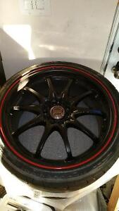 Volk (Rays) Time Attack CE28N Special Edition Wheels 18x8.5 +52 Kitchener / Waterloo Kitchener Area image 2