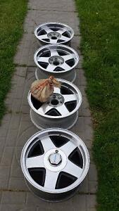 """Four 15"""" mag wheel four hole for mustang"""