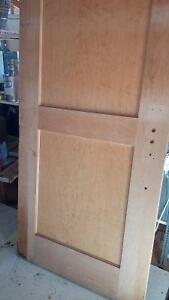 Two beautiful 2x8 solid wooden doors with birds eye maple. Prince George British Columbia image 2