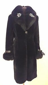 Beautiful new real mouton and fox fur coat size M