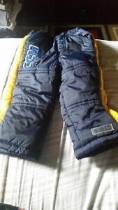 2 pairs of boys 12 to 18 month snowpants