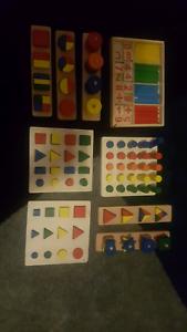 Montessori wooden maths puzzles Usher Bunbury Area Preview
