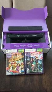 Xbox 360 Kinect with Kinect Adventures and Dance Central