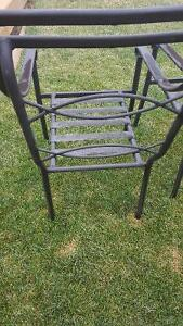 Black patio chairs with cushions Cambridge Kitchener Area image 3