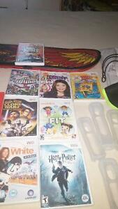 Various Wii games and accessories