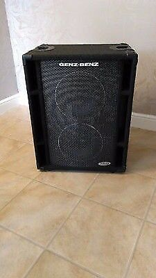"Genz Benz NEOX-210T 2x10"" 4 Ohm Bass Guitar Cab Cabinet for Amp Amplifier"