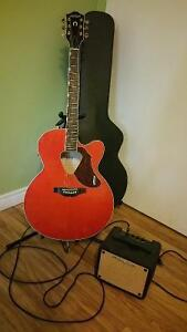 G5022CE Rancher Jumbo Cutaway Electric Acoustic Guitar
