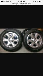 TRAX 0000) IN CALGARY 2016 DODGE RAM 2500 / 3500 WHEELS AND TIRE PACKAGE W/ SENSORS $1800    New !!