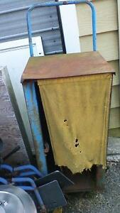 VINTAGE TORONTO STAR WHEELED NEWSPAPER CART Stratford Kitchener Area image 2