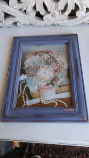 5x7 inces Hand made shabby chic frame vintage