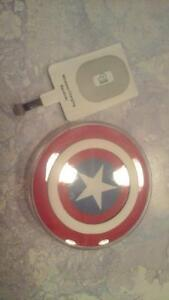Captain America cordless phone charger and reciever