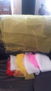 Large lot of large Tulle fabric for sewing or crafts