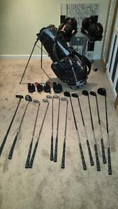 Woman and Man Golf Clubs