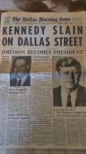 Dallas Morning Post, Nov. 23, 1963 reporting Kennedy killing London Ontario image 1