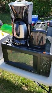 Microwave, Coffeemaker and Toaster Combo