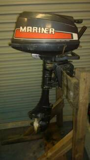 Mariner 2 stroke 5 hp outboard motor.