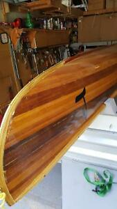 16 ft New Cedar Strip Canoe