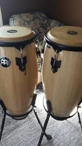 Meinl Headliner congas with stands