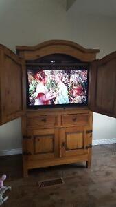 All wood tv cabinet