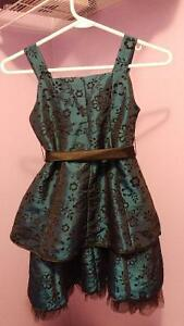 Blue/black floral dress size 7 Cambridge Kitchener Area image 1