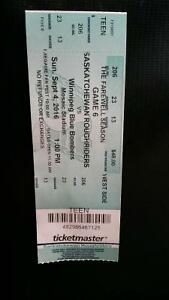 2 Labour day tickets great seats face value $110 for the pair