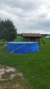 15'x48' intex above ground pool