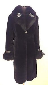 Beautiful new mouton and fox fur coat size M