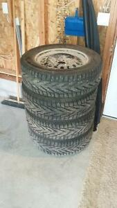 Complete set of winter tires and rims