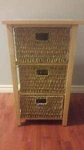 Cabinet with wicker baskets Strathcona County Edmonton Area image 1