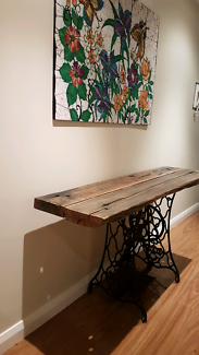 Timber hallway table - high bench