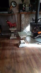 Table de salon comme marbre