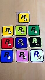 Rare Rockstar Stickers. Great for putting on consoles, laptops etc.