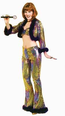 70's Psychedelic Susie Disco Studio 54 Adult Halloween Costume - Studio 54 Halloween Costumes