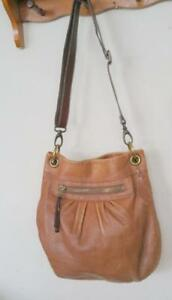 Oakville ROOTS Leather Shoulder Bag Purse Tote Vintage Made in Canada Camel Brown Thick supple soft Retro Quality Vtg