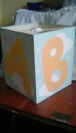 LAMPSHADE- A-B-C-D- FOR BABY'S NURSERY