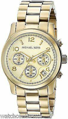 Michael Kors MK5055 Midsized Chronograph Gold Tone Women's Watch