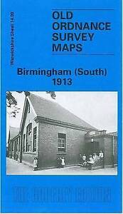OLD ORDNANCE SURVEY MAP Birmingham (South) 1913: Warwickshire Sheet 14.09