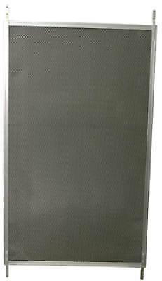 Screen Door Grille, Satin Aluminum, 24-In.