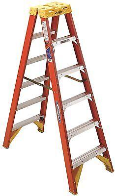 Werner Ladder T6206 Werner Type Ia Fiberglass Twin Ladder 6