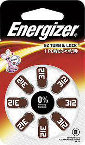 Energizer 312 batteries for hearing aids