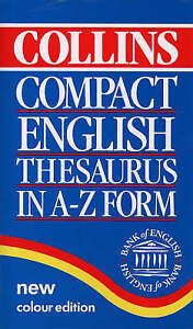 Collins Compact English Thesaurus in A-Z Form, Not Known, Very Good Book
