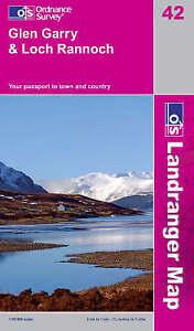 Glen Garry & Loch Rannoch - OS Landranger Map 42  (NEW folded sheet map, 2011)