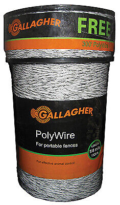 Electric Fence Polywire Ultra White 1320-ft.